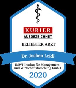 Dr. Jochen Leidl Auszeichnung Kurier 2020